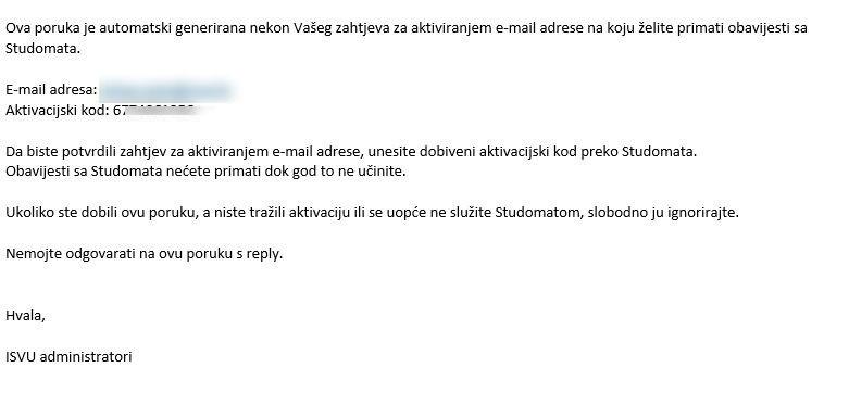 slanje e-pošte putem interneta